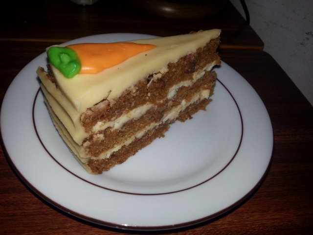 Gâteau aux carottes du restaurant Have A Nice Day [Carrot cake of the restaurant Have A Nice Day]