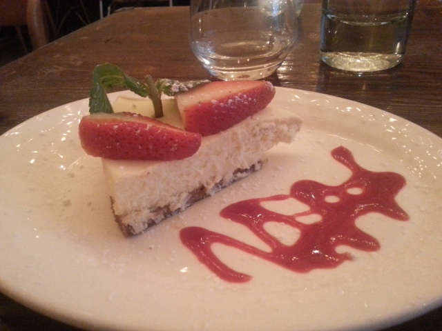 Cheese cake du restaurant Lefty [Cheese cake of the restaurant Lefty]