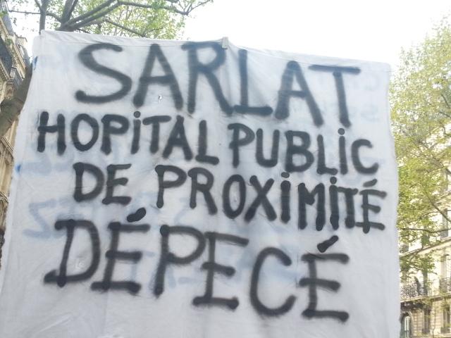 Sarlat hôpital public de proximité dépecé [Sarlat local public hospital dismembered]