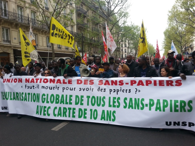 Union nationale des sans-papiers [National union of undocumented migrants]