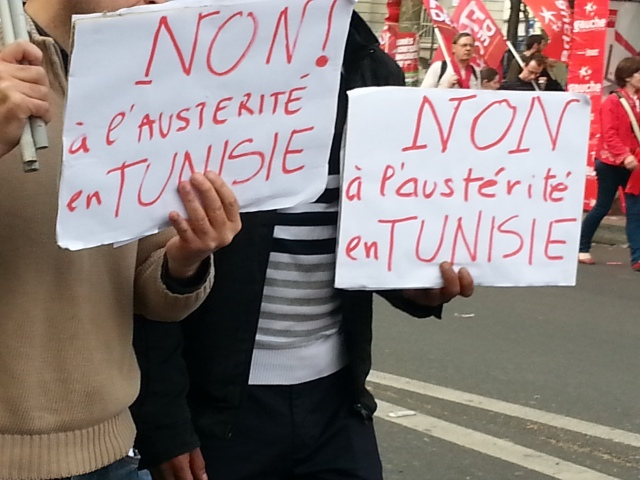 Non à l'austérité en Tunisie [No to austerity in Tunisia]