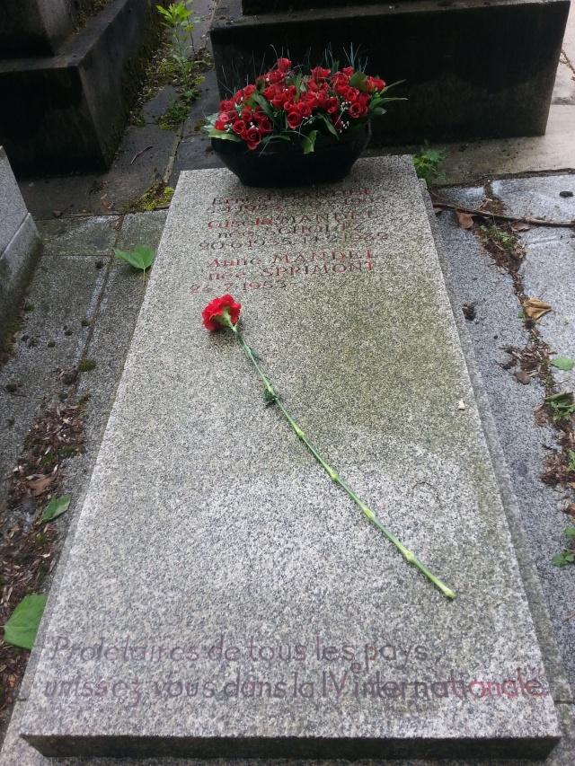 Tombe d'Ernest Mandel [Ernest Mandel's grave]