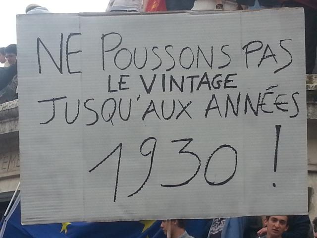 Ne poussons pas le vintage jusqu'aux années 30 [Let us not push the vintage to the thirties]
