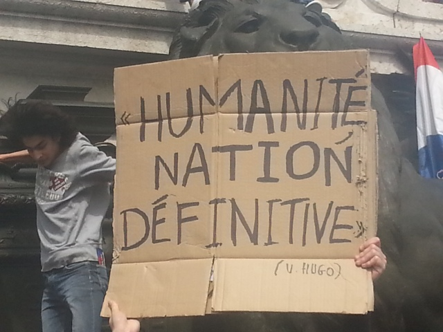 Humanité, nation définitive, Victor Hugo [Mankind, definitive nation, Victor Hugo]