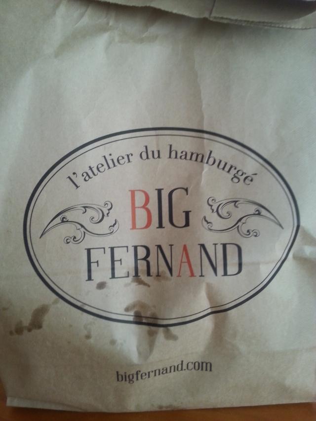 Avant du sac du restaurant Big Fernand [Front of the restaurant Big Fernand's bag]