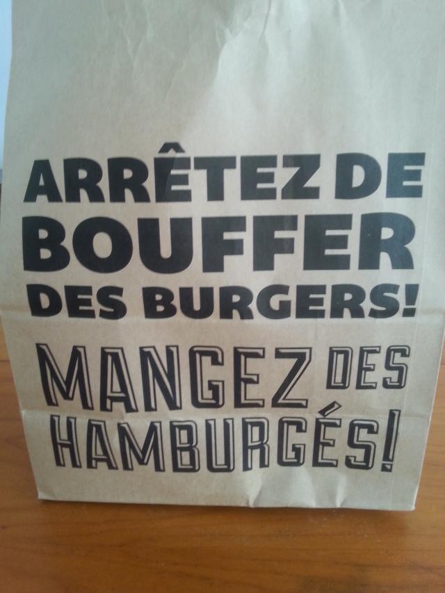 Arrière du sac du restaurant Big Fernand [Back of the restaurant Big Fernand's bag]