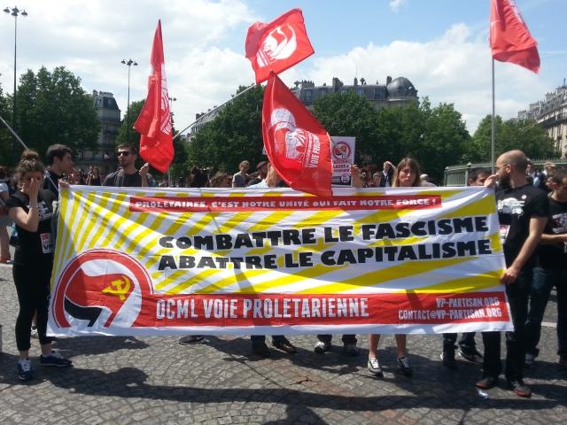 Combattre le fascisme, abattre le capitalisme, voie prolétarienne [Fight fascism, bring capitalism down, proletarian way]