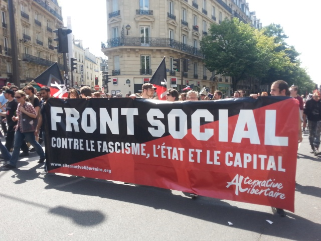 Front social contre le fascisme, l'état et le capital, alternative libertaire [Social front against fascism, the state and the capital, libertarian alternative]