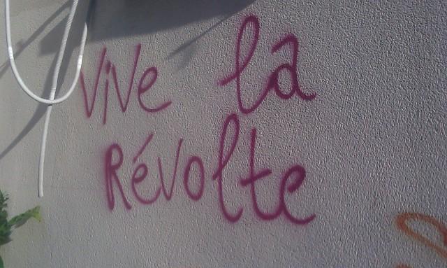 Art de rue à Bagnolet : Vive la révolte [Street art in Bagnolet: Cheers for revolt]