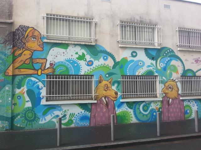 Art de rue à Bagnolet, rue Robespierre [Street art in Bagnolet, Robespierre street]
