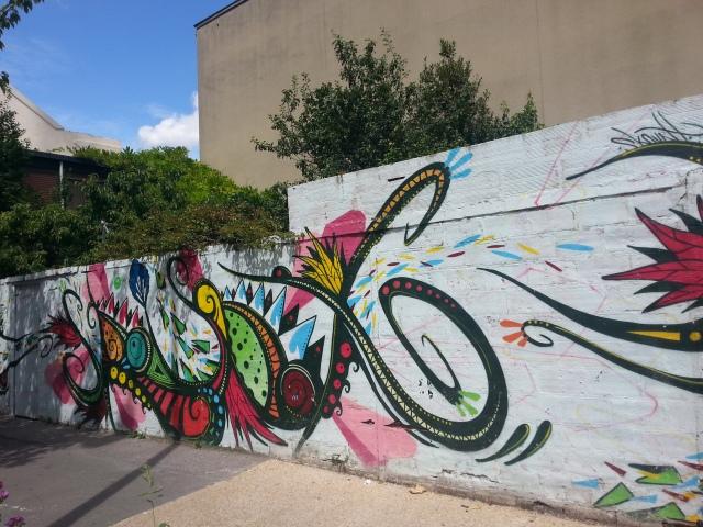 Art de rue à Bagnolet, 1 rue du général Leclerc [Street art in Bagnolet, 1 General Leclerc's street]