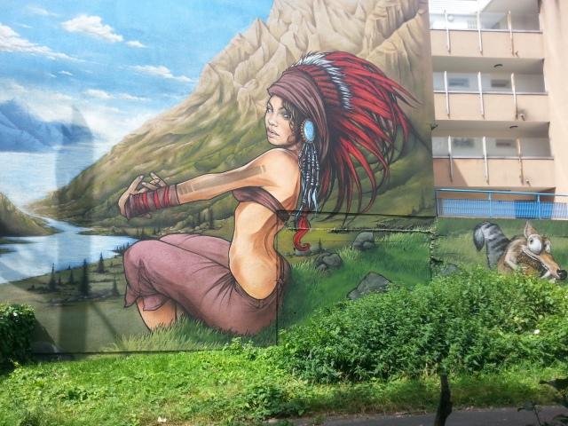 Art de rue à Bagnolet, 11 rue du général Leclerc [Street art in Bagnolet, 11 General Leclerc's street]