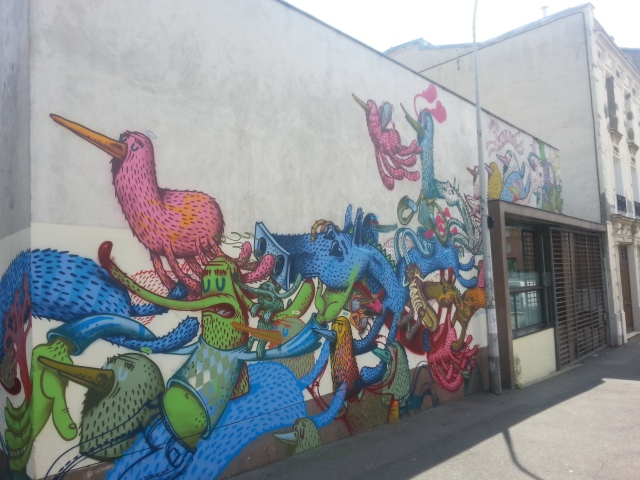 Art de rue à Bagnolet, 8 rue Charles Graindorge [Street art in Bagnolet, 8 Charles Graindorge's street]