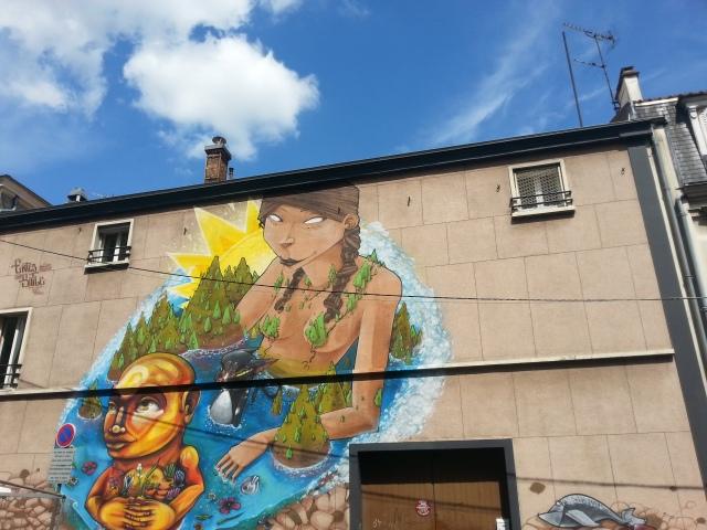 Art de rue à Bagnolet, 4 rue Raoul Berton [Street art in Bagnolet, 4 Raoul Berton street]