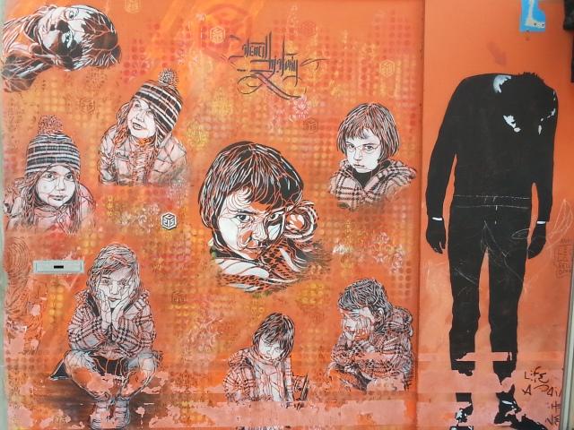 Art de rue à Bagnolet, place Nelson Mandela [Street art in Bagnolet, Nelson Mandela's square]