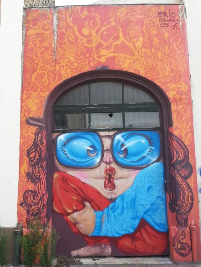 Art de rue à Bagnolet, 32 rue Charles Graindorge [Street art in Bagnolet, 32 Charles Graindorge's street]