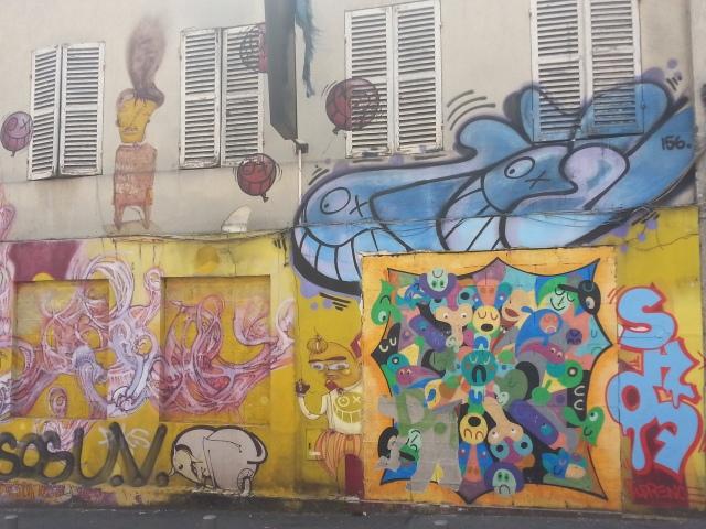 Art de rue à Bagnolet, 11 rue Marie Anne Colombier [Street art in Bagnolet, 11 Marie Anne Colombier's street]
