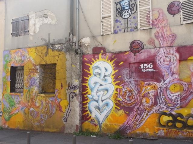 Art de rue à Bagnolet, 9 rue Marie Anne Colombier [Street art in Bagnolet, 9 Marie Anne Colombier's street]