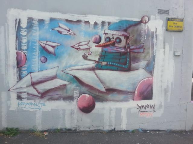 Art de rue à Bagnolet, 1 rue Julian Grimau [Street art in Bagnolet, 1 Julian Grimau's street]