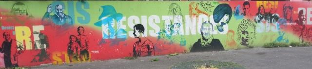 Résistances, art de rue à Bagnolet, 11 rue Siesto Fiorentino [Resistances, street art in Bagnolet, 11 Siesto Fiorentino's street]