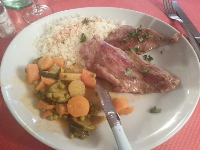 Plumas de porco pata negra du restaurant brésilien La taverne [Plumas de porco pata negra of the Brazilian restaurant La taverne]