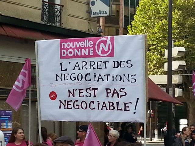 L'arrêt des négociations n'est pas négociable, Nouvelle Donne [The termination of the negotiations isn't negotiable, New Deal]