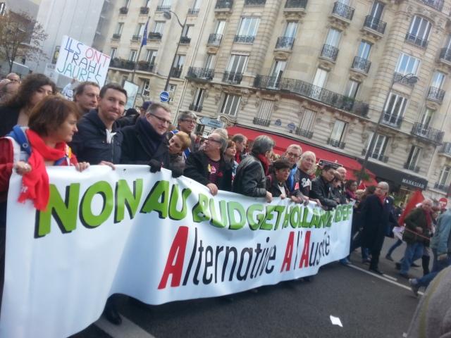Non au budget Hollande MEDEF, alternative à l'austérité [No to the Hollande MEDEF budget, alternative to austerity]