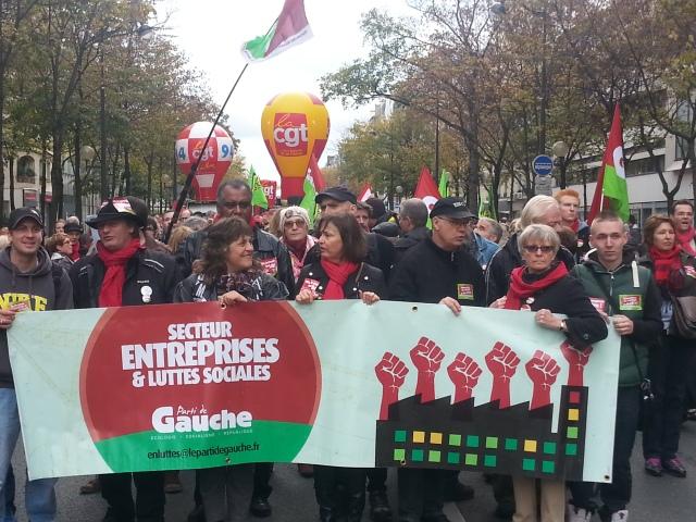 Parti de gauche secteur entreprises et luttes sociales [Left-wing party corporations and social struggles sector]