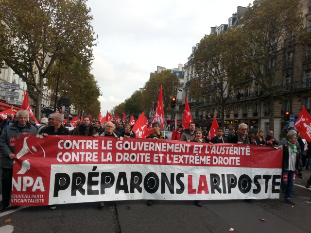 Contre le gouvernement et l'austérité, contre la droite et l'extrême-droite, préparons la riposte, NPA [Against the government and austerity, against the right and extreme right, let us prepare the response, NPA]