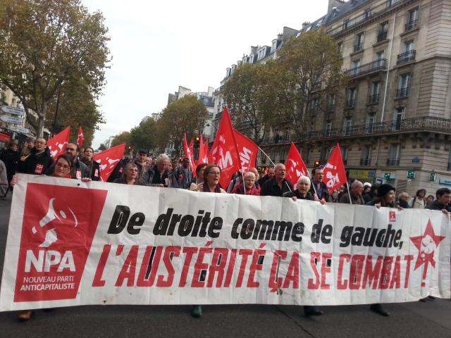 De droite comme de gauche, l'austérité ça se combat, NPA [Left-wing or right wing austerity has to be fought, NPA]