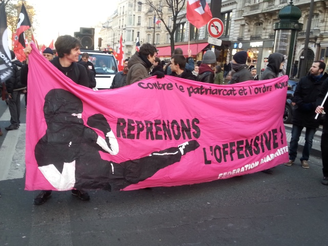 Contre le patriarcat et l'ordre moral, reprenons l'offensive, fédération anarchiste [Against patriarchy and moral order, let's take up again the offensive, anarchist federation]