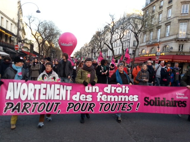 Avortement, un droit des femmes, partout, pour toutes, SUD [Abortion, a women's right, everywhere, for all, SUD]