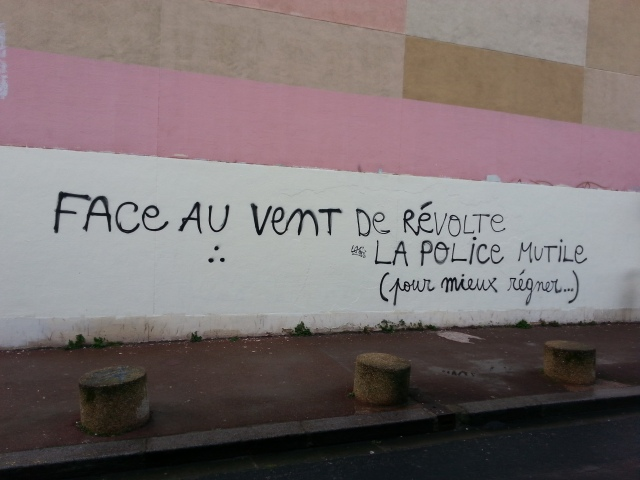 Face au vent de la révolte, la police mutile pour mieux règner [Facing the wind of revolt, the police mutilates to better reign]