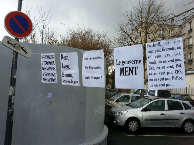 Dans nos quartiers, les flics sont les seuls étrangers [In our neighborhoods, the cops are the only foreigners]
