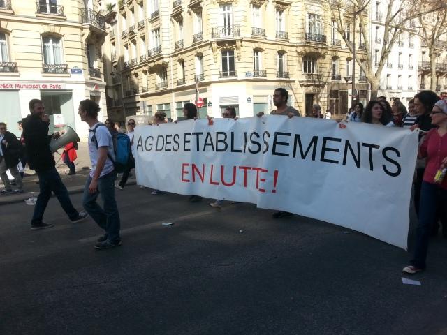 Assemblée générale des établissements en lutte [General meeting of the institutions in struggle]