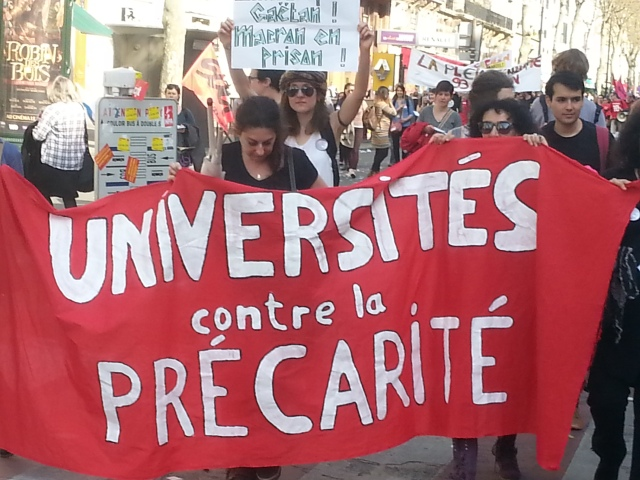 Universités contre la précarité [Universities against precariousness]