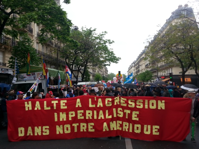 Halte à l'agression impérialiste dans notre amérique [Stop the imperialist aggression in our America]