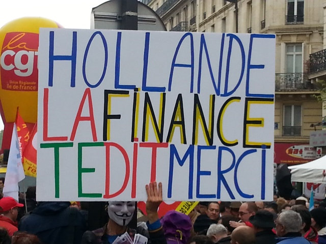 Hollande, la finance te dit merci [Hollande, finance tells you thanks]