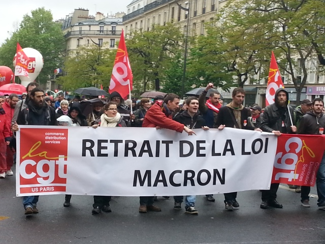 Retrait de la loi Macron, CGT Paris [Withdrawal of the Macron law, CGT Paris]