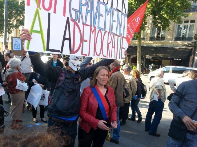 Danielle Simonnet, parti de gauche [Danielle Simonnet, left-wing party]