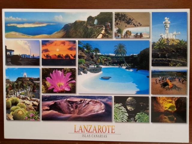 Carte postale de Lanzarote [Postcard of Lanzarote]