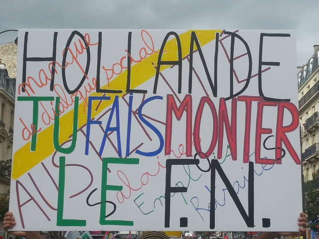 Hollande, tu fais monter le FN [Hollande, you raise the FN]