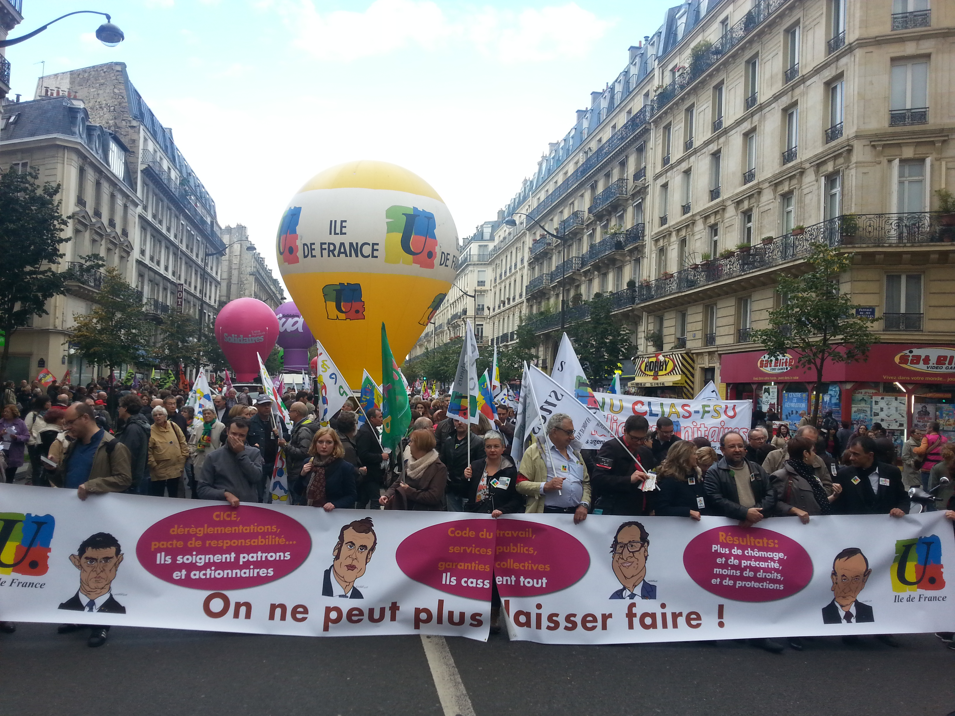 Manifestation unitaire pour les salaires les retraites les services publics et contre les - Chambre contre service ile de france ...