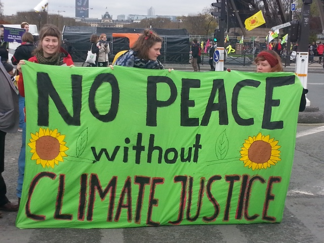 Pas de paix sans justice climatique [No peace without climate justice]