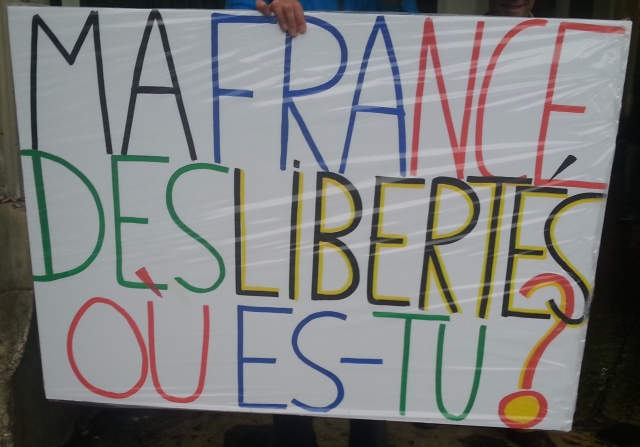 Ma France des libertés, où es-tu? [My France of the freedoms, where are you?]
