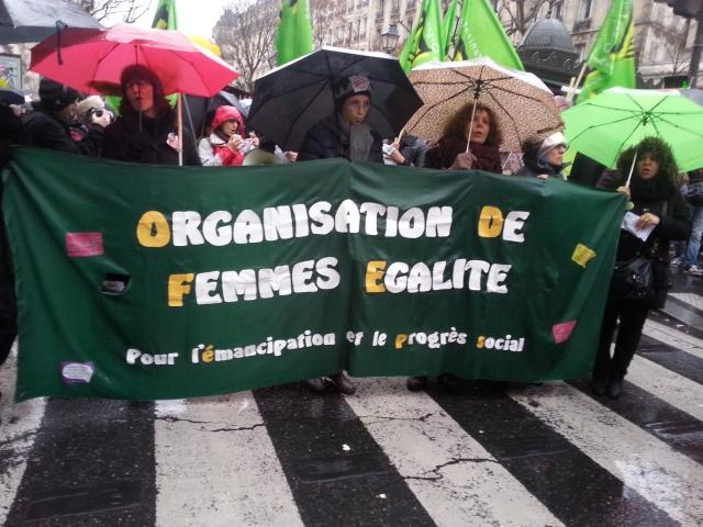 Pour l'émancipation et le progrès social, organisation de femmes Égalité [For emancipation and social progress, organization of women Equality]