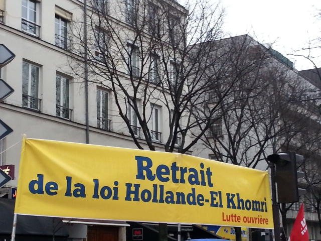 Retrait de la loi Hollande-El Khomri, Lutte Ouvrière [Withdrawal of the Hollande-El Khomri law, Workers' Struggle]