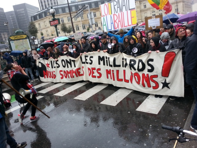 Ils ont les milliards, nous sommes des millions [They have the billions, we are the millions]