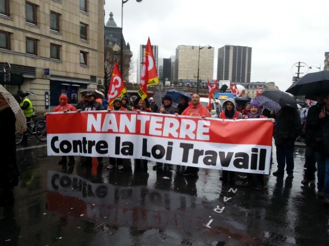 Nanterre contre la loi travail, CGT [Nanterre against the 'work' law, CGT]