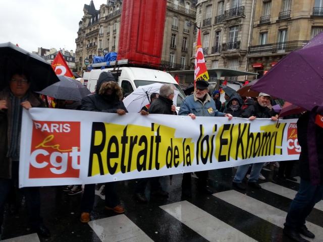 Retrait de la loi El Khomri, CGT Paris [Withdrawal of the El Khomri law, CGT Paris]